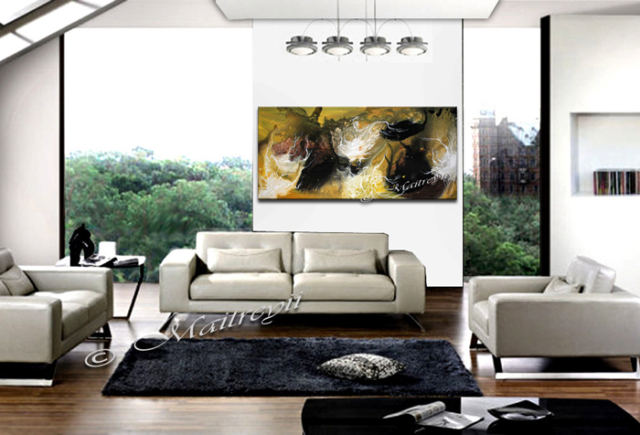 large abstract oil painting
