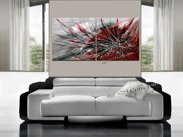 abstract painting on canvas panel