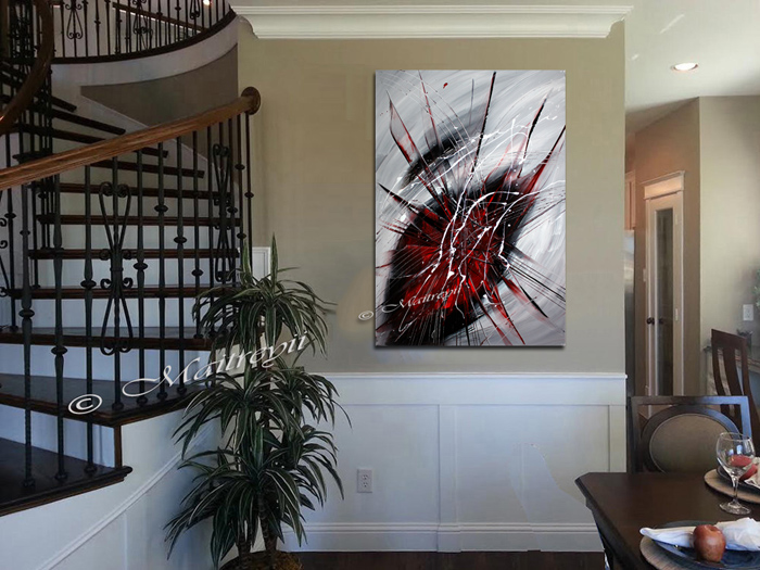 Red Black Art for Sale