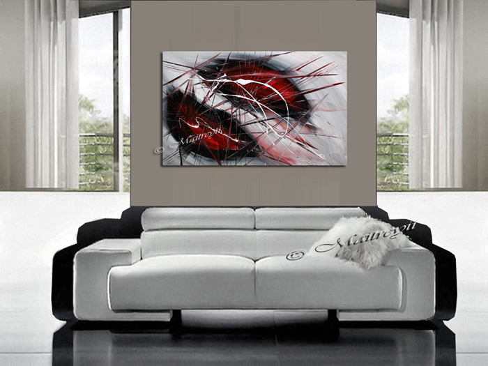 Modern Red Art for sale by Maitreyii
