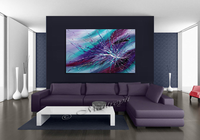 Purple Art create on large size canvas