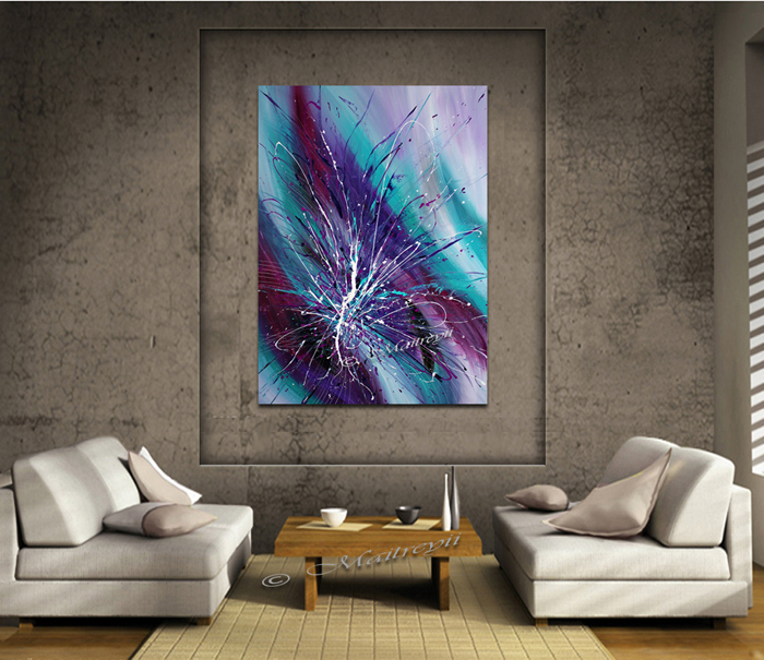 Awesome Purple Teal painting for sale by Maitreyii FineArt